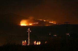 Near the Harris fire
